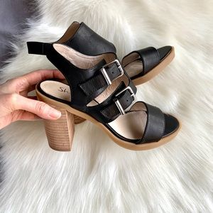 Black Chunky Heels/Shellys London